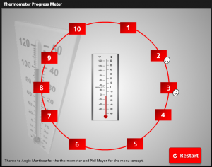 Thermometer Progress Meter by Bruce Graham