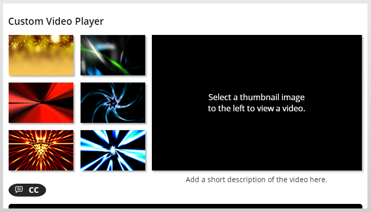 Custom Video Player