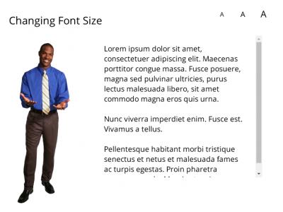 Font Size Magnification