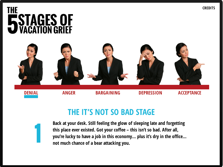 Stages Of Vacation Grief