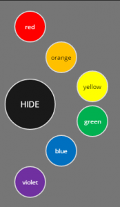 circular menu colors