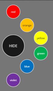 circular menu colors