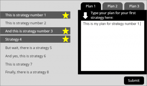 text entry for plan 1